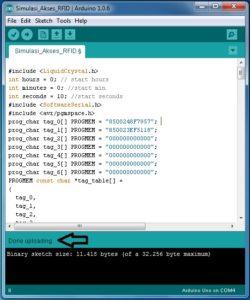Tampilan Setelah Proses Upload Selesai Cara Upload Program Arduino Menggunakan Downloader USB ASP