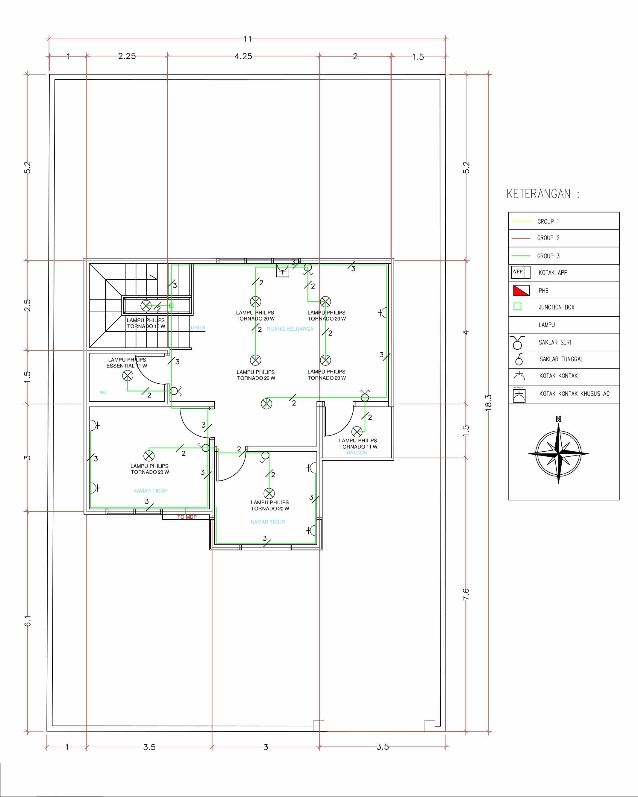 Perencanaan instalasi listrik rumah bertingkat dua lantai egsean instalasi rumah lantai 2 asfbconference2016 Image collections